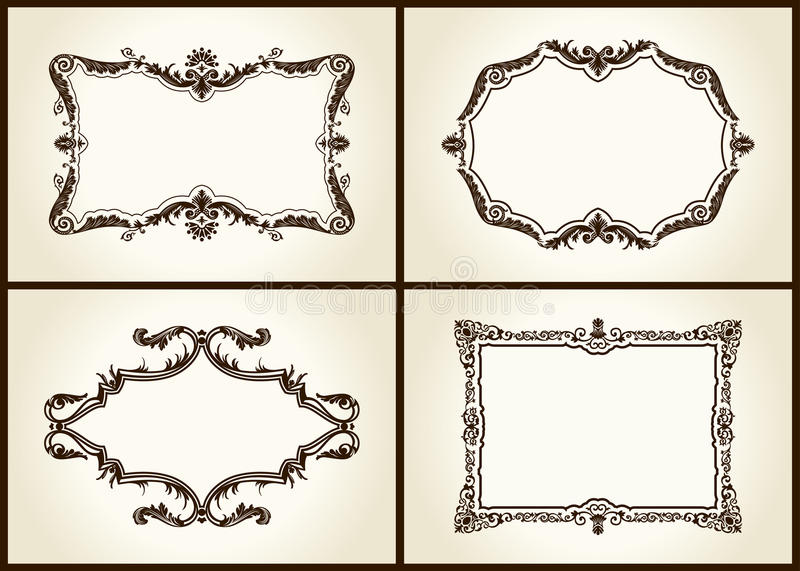Download Vector Vintage Design Retro Frames Ornament Label Stock Photography - Image: 17311362