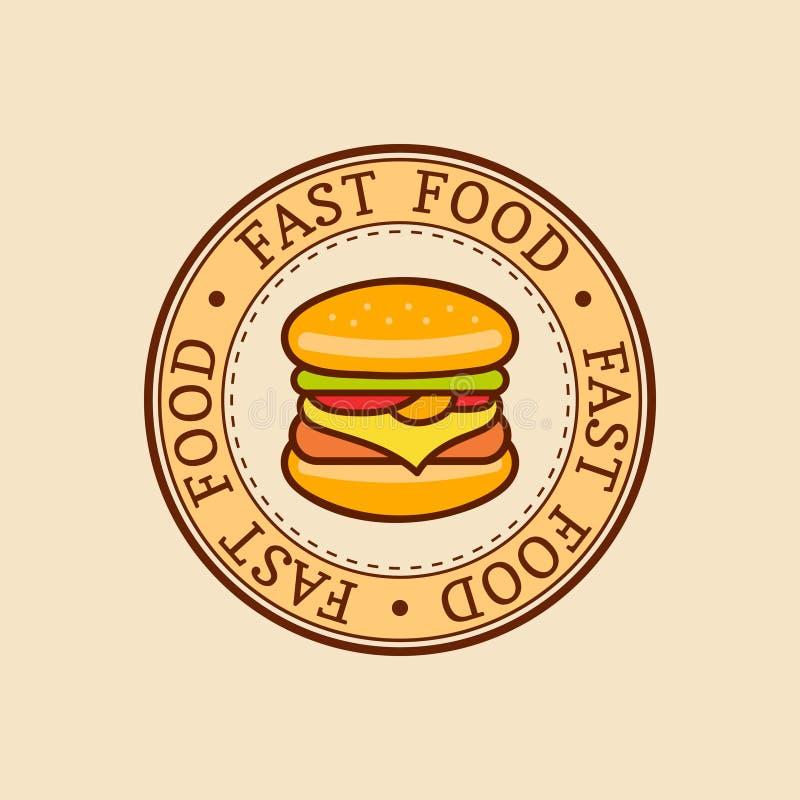 Free Vector Vintage Fast Food Logo. Burge Sign. Bistro Icon. Eatery Emblem For Street Restaurant, Cafe, Bar Menu Design. Stock Photo - 89900940
