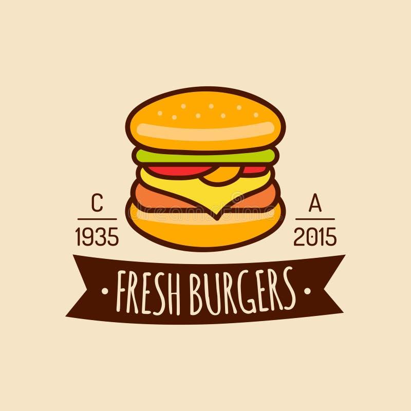 Free Vector Vintage Fast Food Logo. Burge Sign. Bistro Icon. Eatery Emblem For Street Restaurant, Cafe, Bar Menu Design. Stock Photos - 89901033