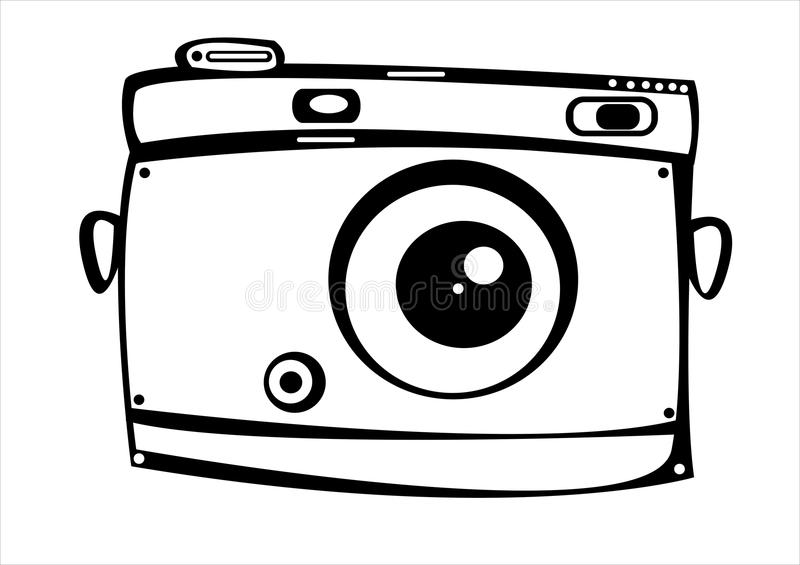 Film Camera Silhouette Vector Coloring Coloring Pages