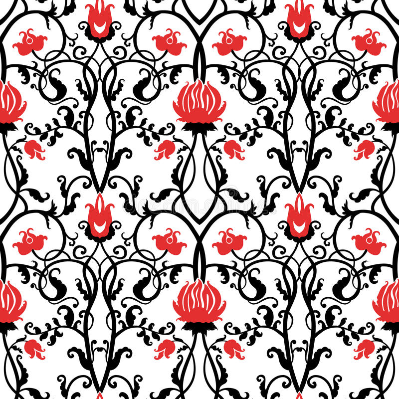 vector vintage flowers pattern. retro seamless texture vector illustration
