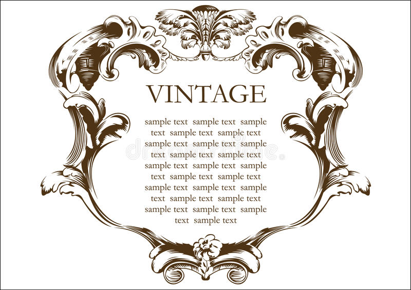 Download Vector vintage frame cover stock vector. Image of isolated - 10025129