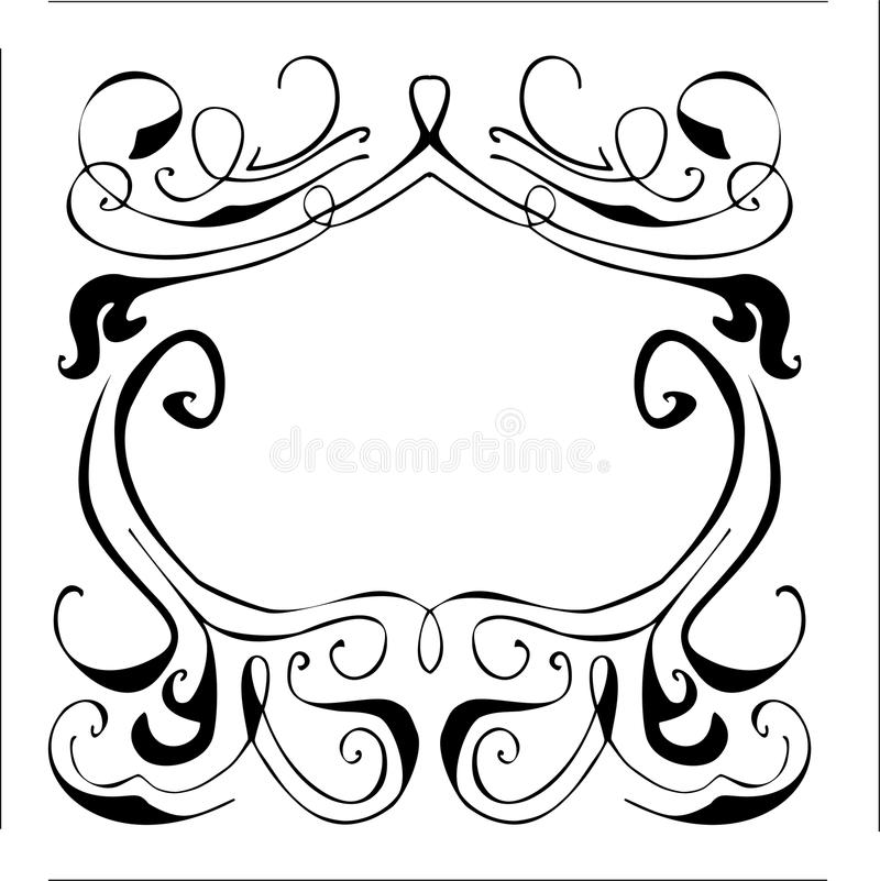 a vector vintage frame with ornaments monogram and crown stock rh dreamstime com vector ornamental designs vector ornament brushes illustrator