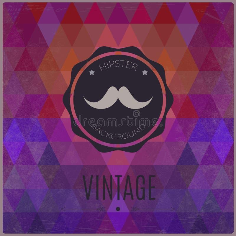 Vector vintage geometric background. royalty free illustration