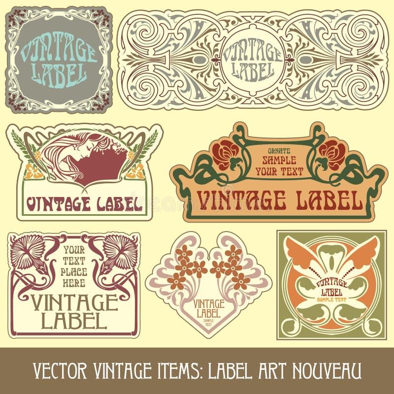Vector vintage items stock illustration