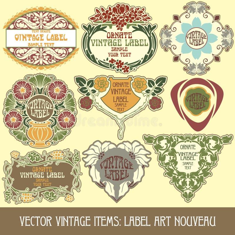Vector vintage items vector illustration