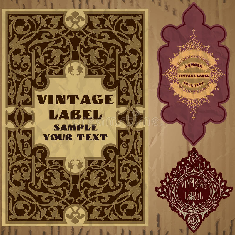 Vector vintage items royalty free illustration