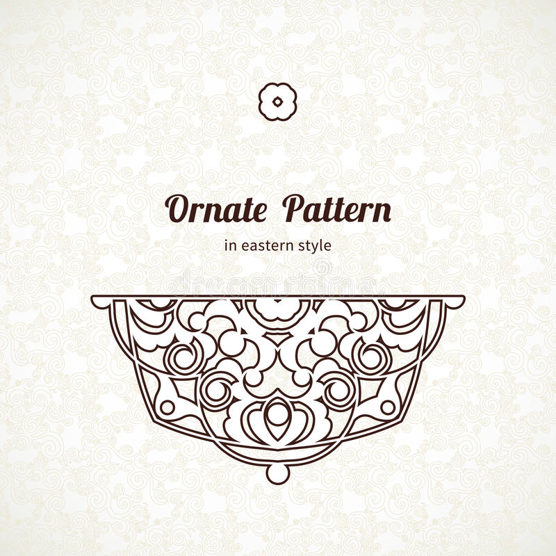 Download Vector Vintage Lace Pattern In Eastern Style Stock