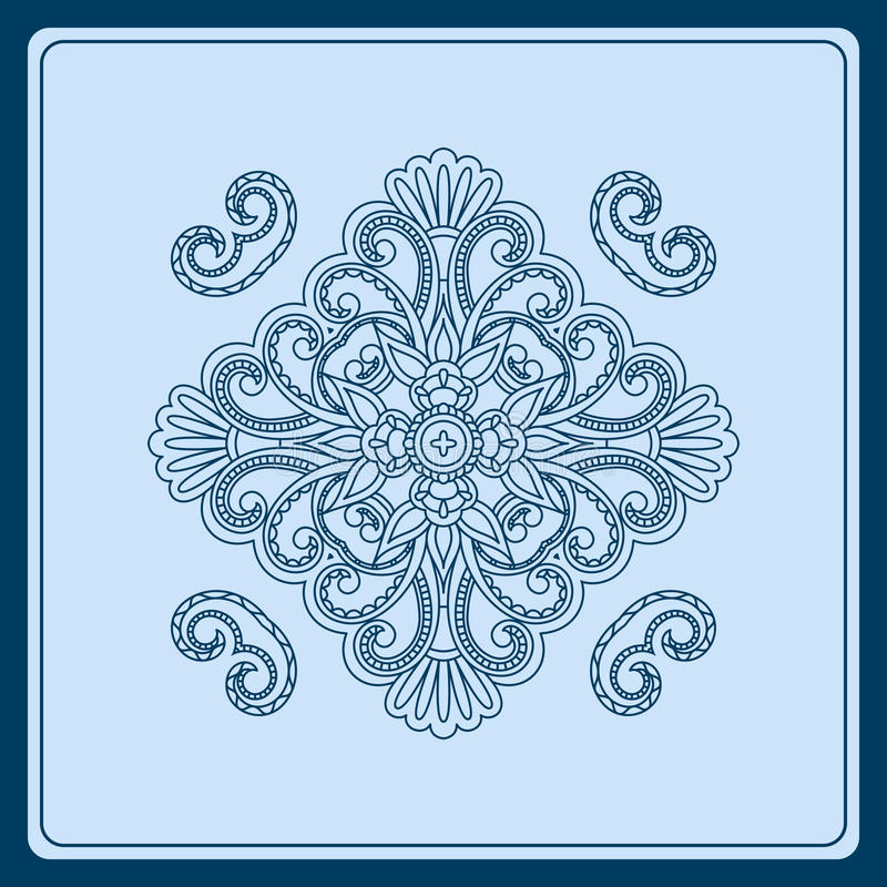 Download Vector ornament. stock vector. Illustration of card, carpet - 30096052