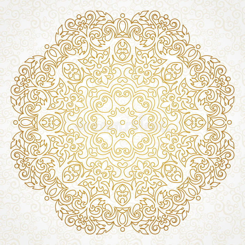 vector vintage pattern in victorian style stock vector