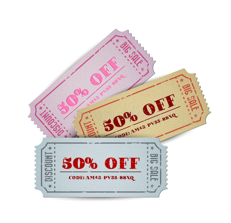 Download Vector Vintage Sale Coupons Stock Vector - Image: 23902698
