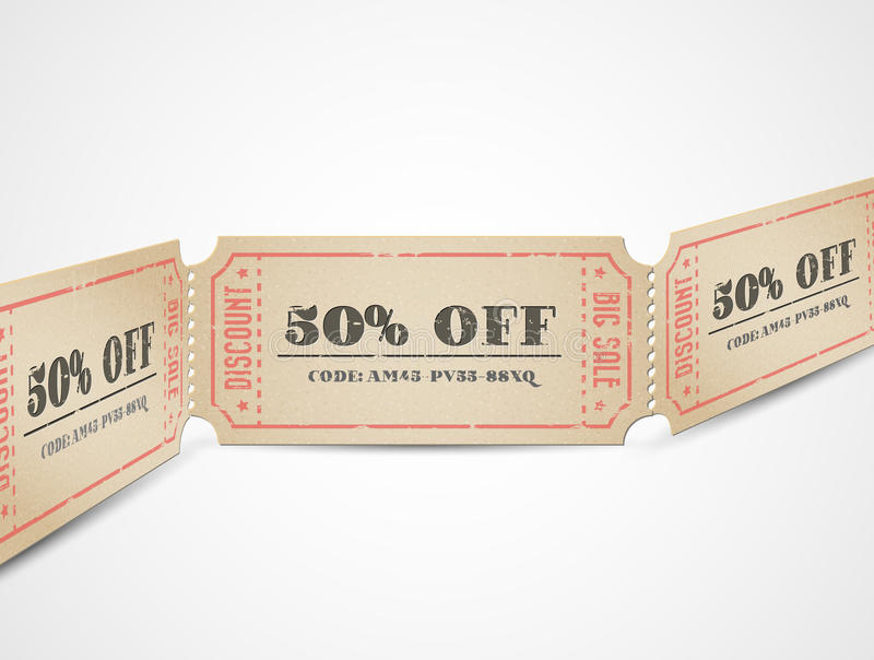 Download Vector Vintage Sale Coupons Stock Vector - Image: 24546372