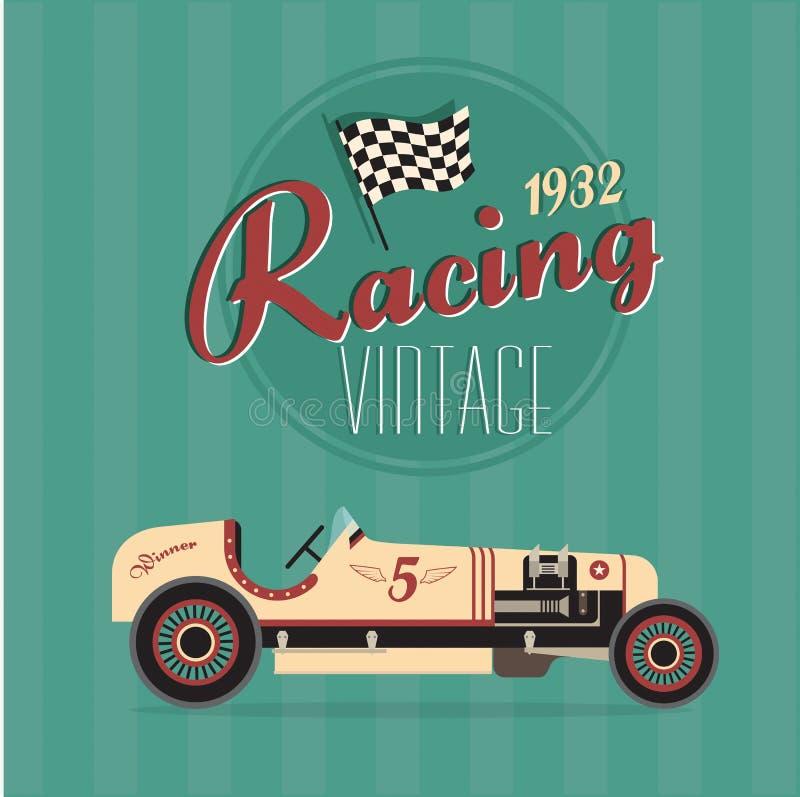 Vector vintage sport racing cars vector illustration