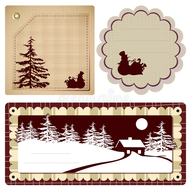 Vector Vintage Style Background Christmas Royalty Free Stock Photography