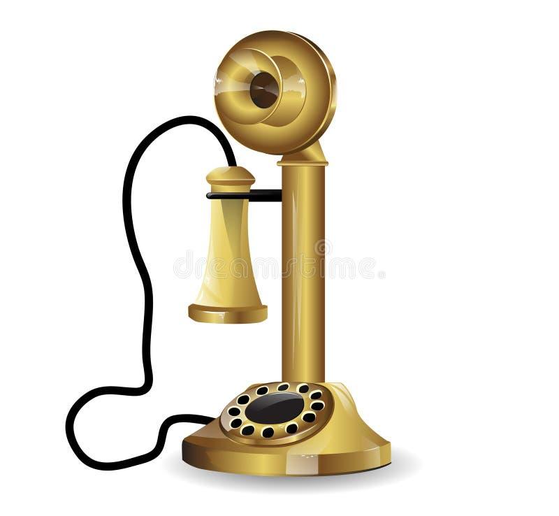 Download Vector vintage telephone stock vector. Image of conversation - 24053670