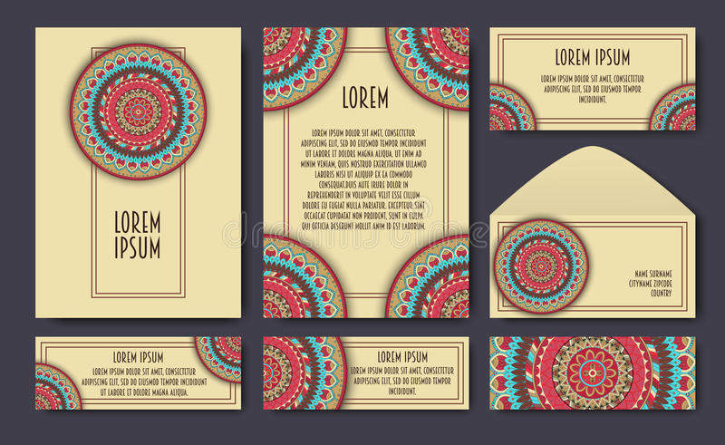 Islamic Pattern Vector Cover Page Layout Stock Vector - Illustration