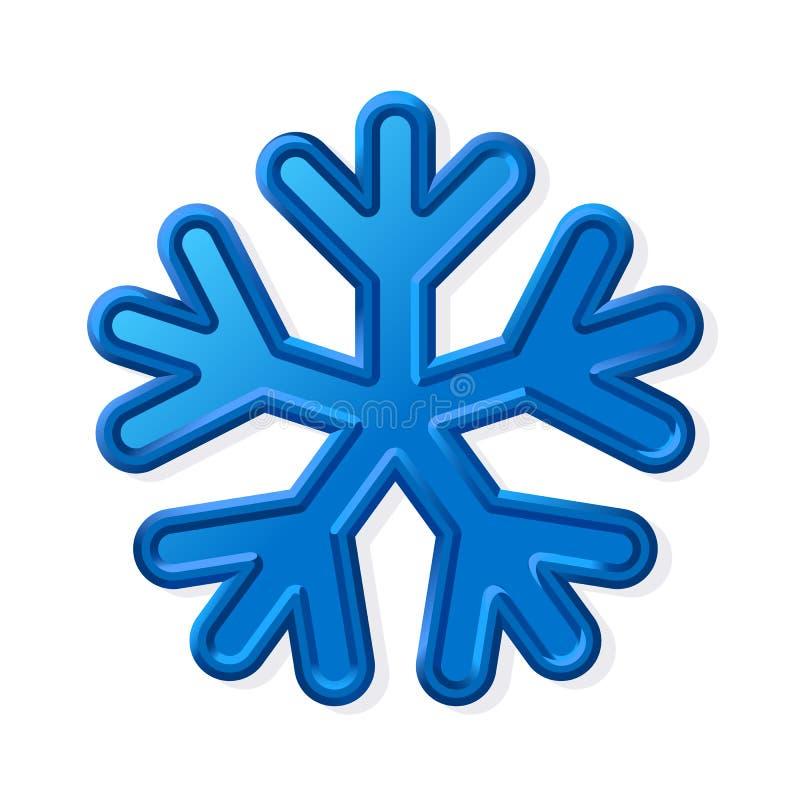 Vector vintervolym snöflake royaltyfri illustrationer