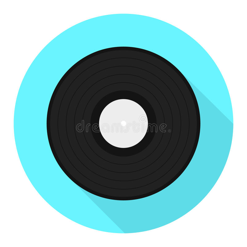 vector vinyl disk icon vinyl record flat icon stock vector rh dreamstime com vinyl record vector tutorial vinyl record vector free