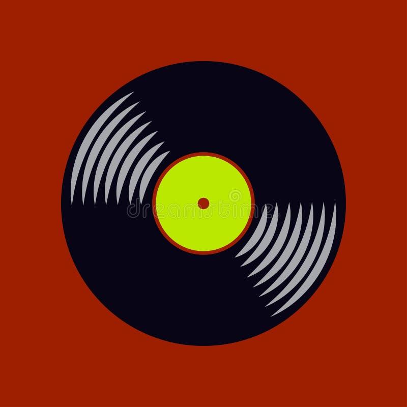 Vector vinyl record icon royalty free illustration