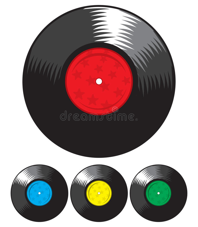 Download Vector vinyl record set stock vector. Image of music - 31066607