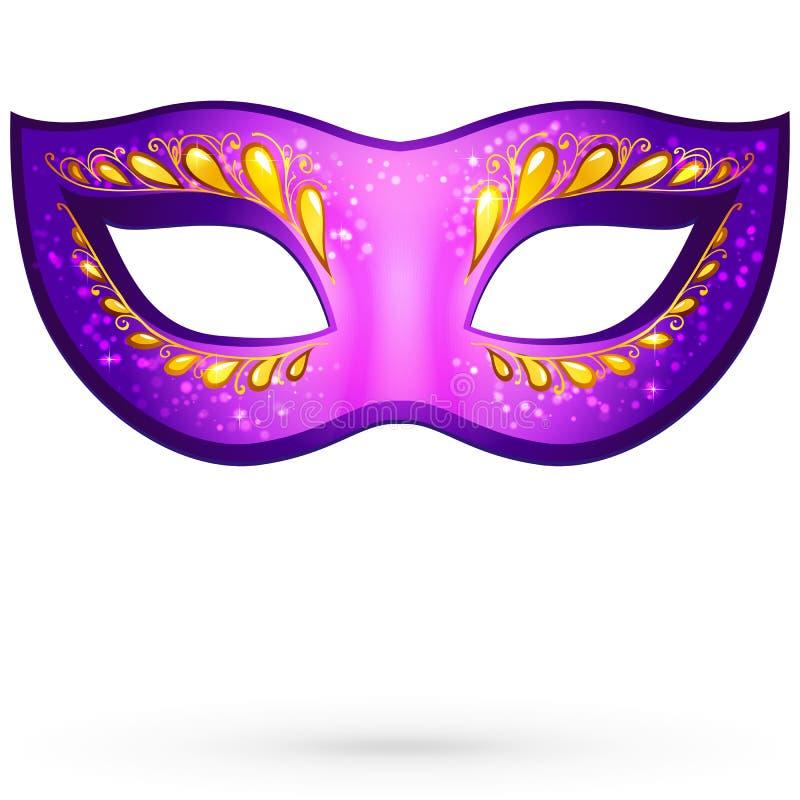 Download Vector Violet Venitian Carnival Mask Stock Vector - Image: 28036134