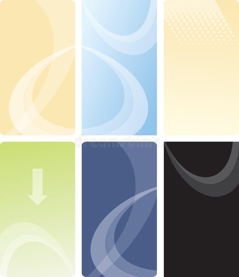 Vector Visitenkarteschablonenauslegung lizenzfreie abbildung