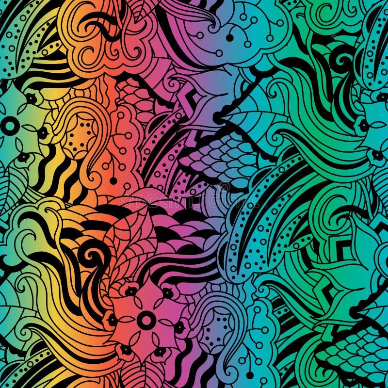 Vector vivid seamless abstract hand drawn pattern stock photos