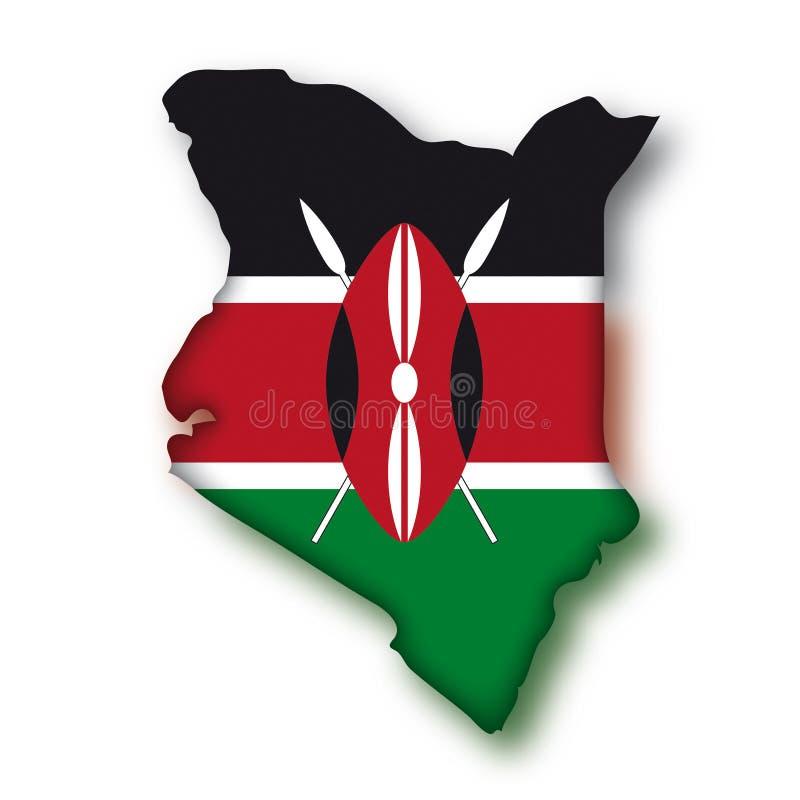 Vector Vlag Kenia royalty-vrije illustratie