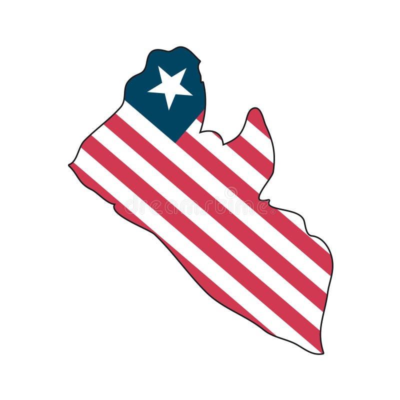 Vector Vlag Liberia vector illustratie