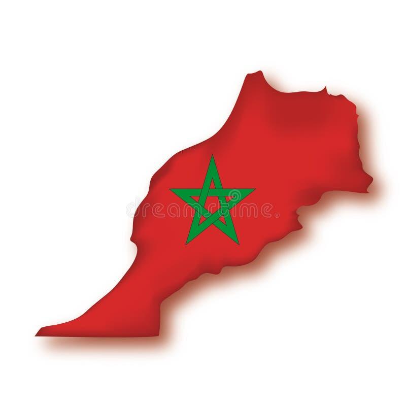 Vector Vlag Marokko vector illustratie