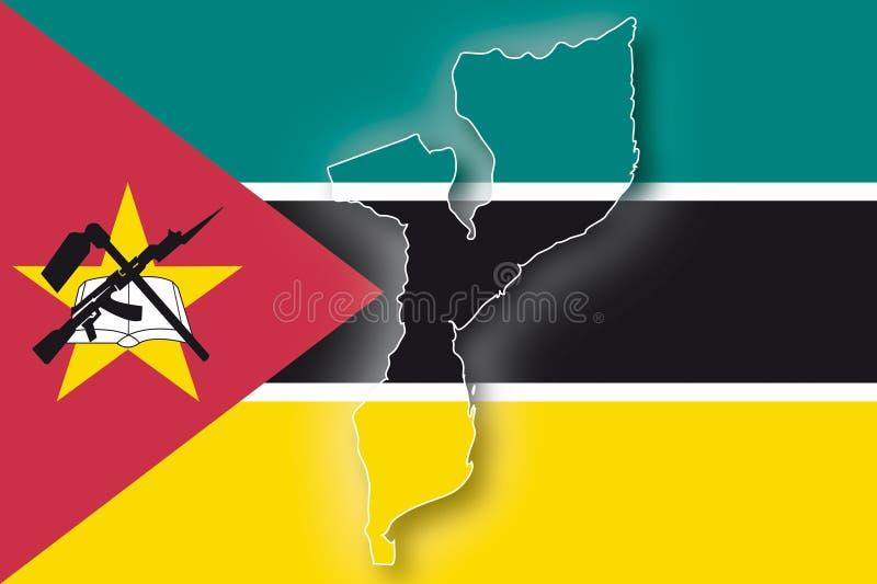 Vector Vlag Mozambique vector illustratie