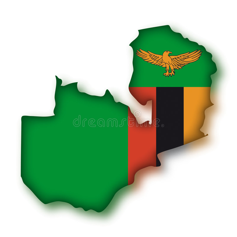 Vector Vlag Zambia vector illustratie