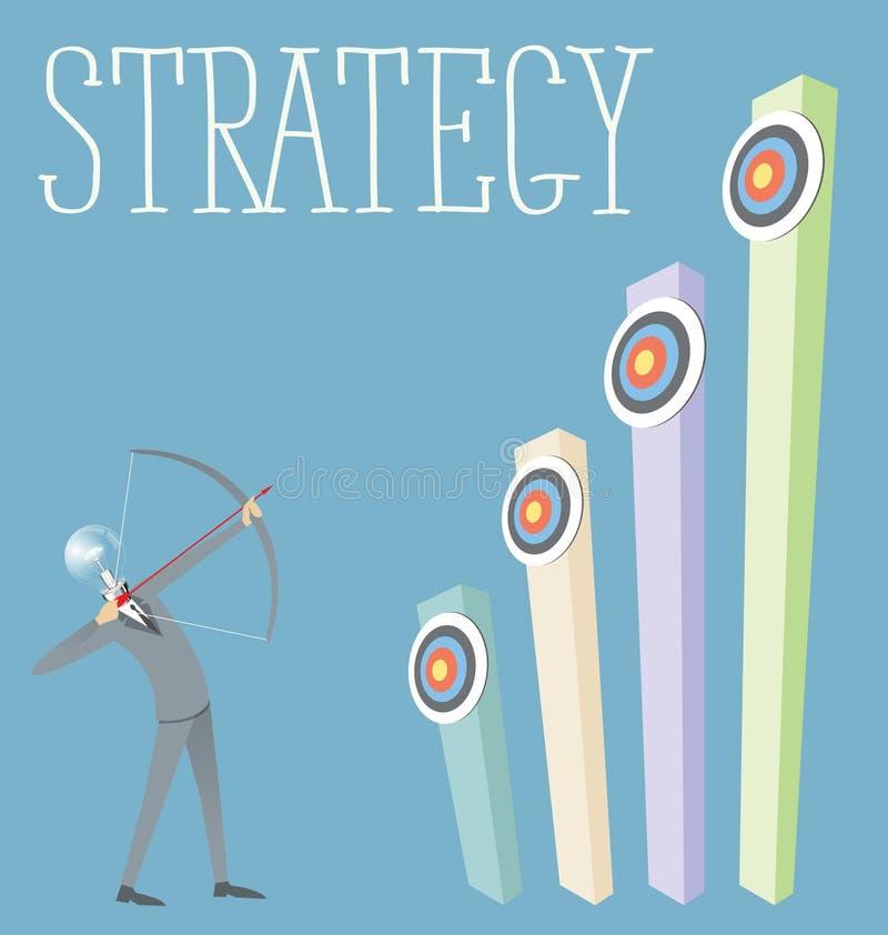 Vector Vlak Bedrijfsconcept stock illustratie