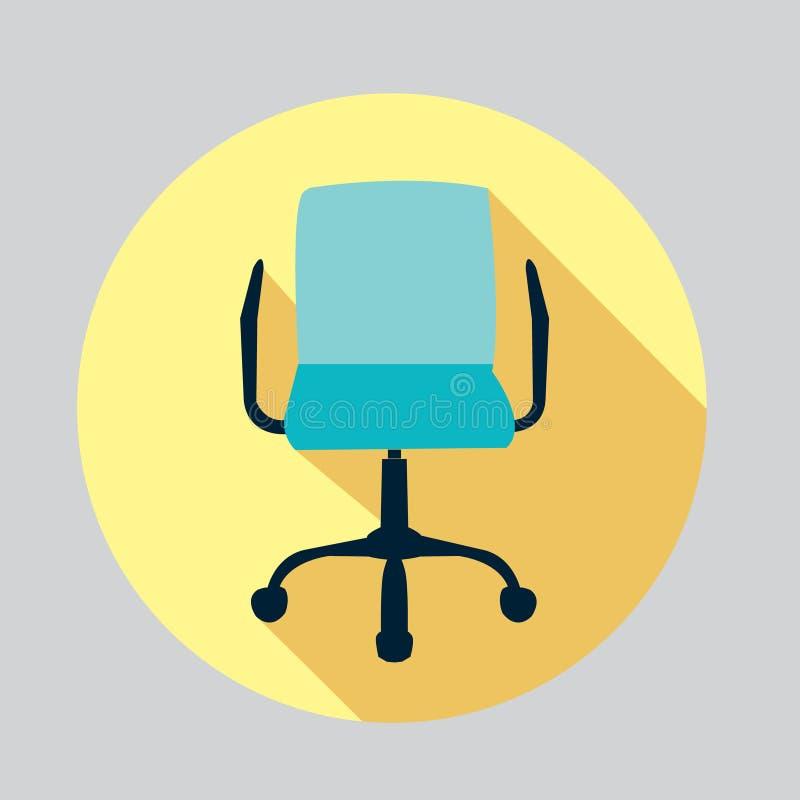 Vector vlak ontwerppictogram van een stoel stock illustratie