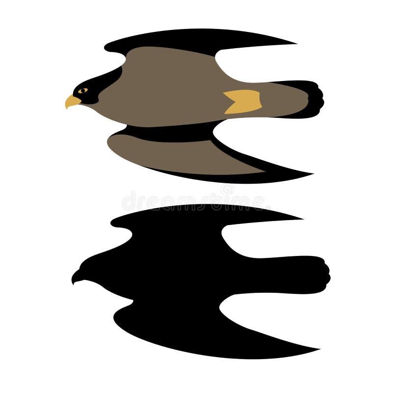 Vector Vlakke de illustratiestijl van de valkhavik stock illustratie
