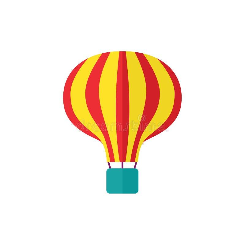Vector vlakke hete geïsoleerde luchtballon vector illustratie
