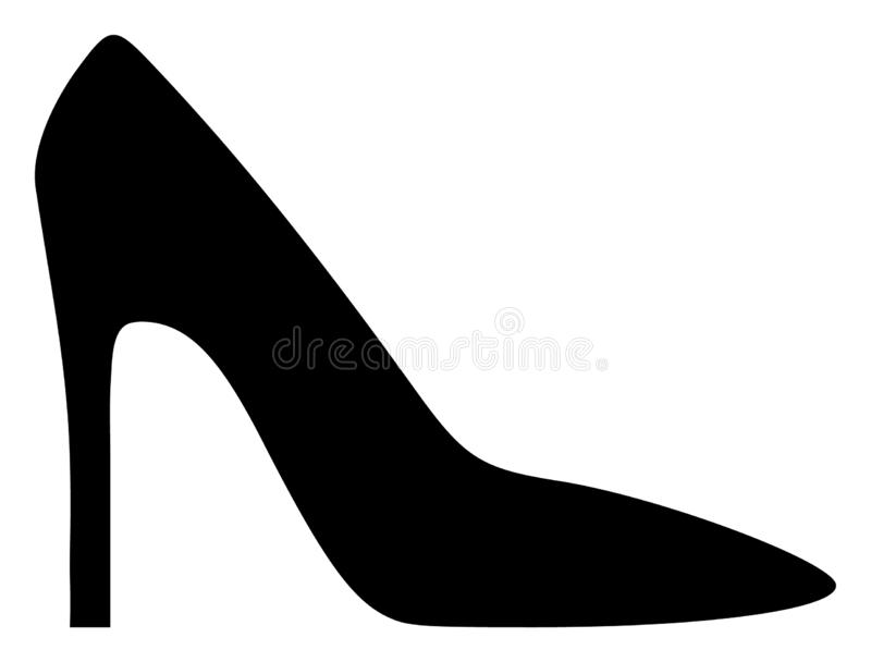 Vector Vlakke Hoge Hiel Dame Shoe Icon vector illustratie