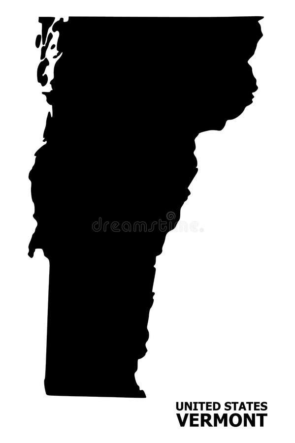 Vector Vlakke Kaart van de Staat van Vermont met Naam royalty-vrije illustratie
