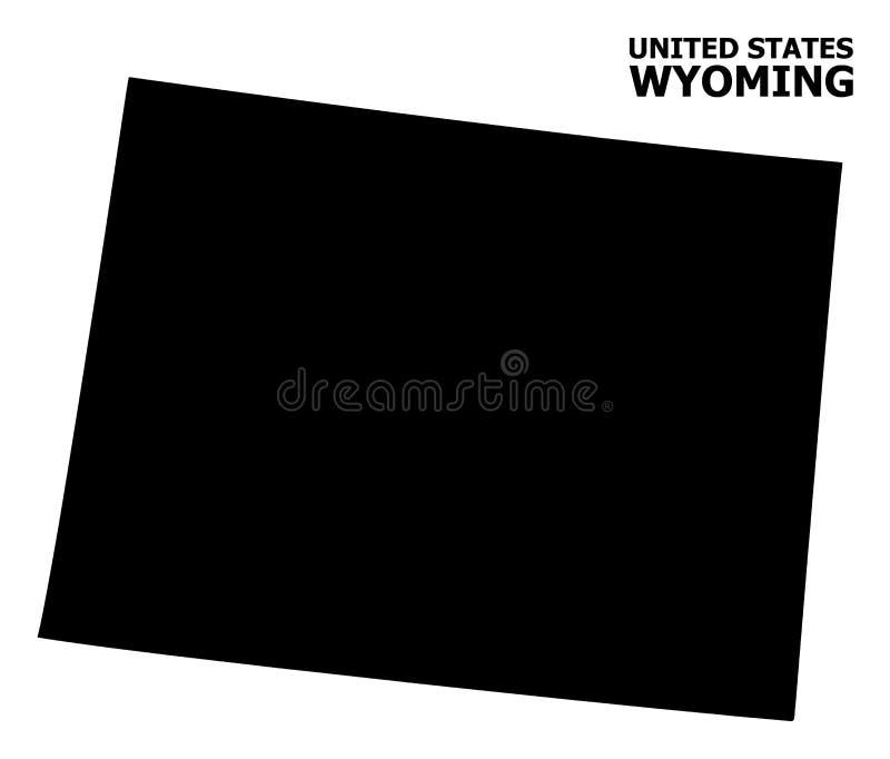 Vector Vlakke Kaart van de Staat van Wyoming met Titel royalty-vrije illustratie