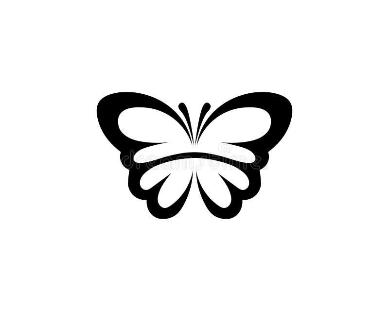 Vector - Vlinder conceptueel eenvoudig, kleurrijk pictogram embleem Vector illustratie stock illustratie