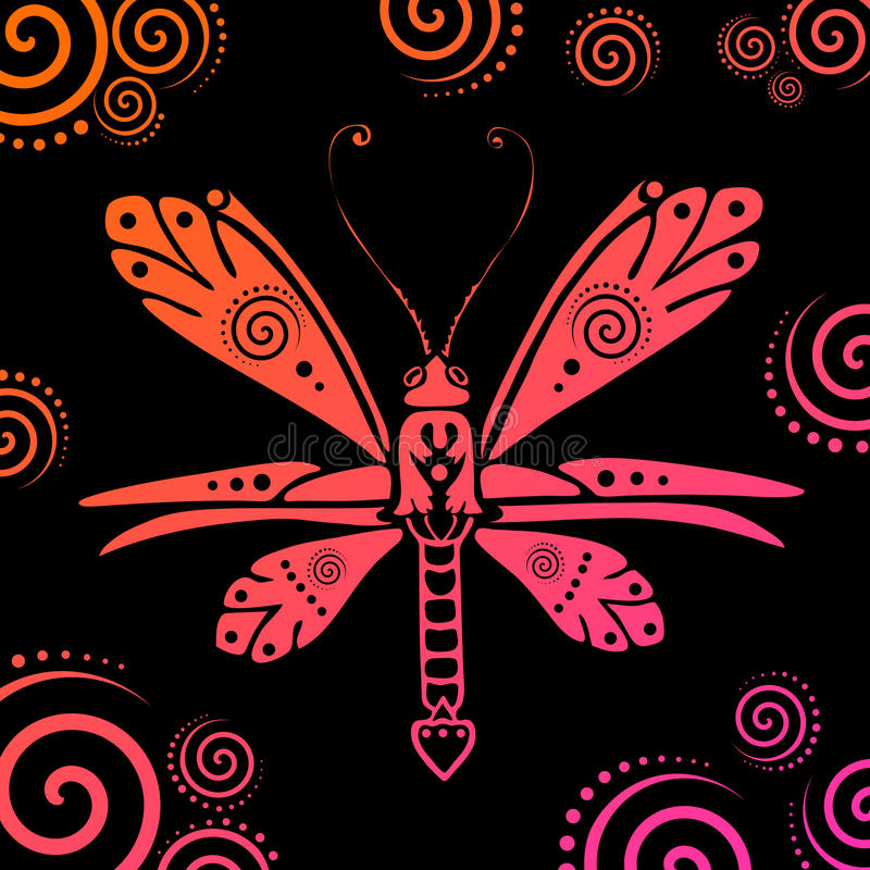 Download Vector vlinderillustratie vector illustratie. Illustratie bestaande uit decoratie - 10775829