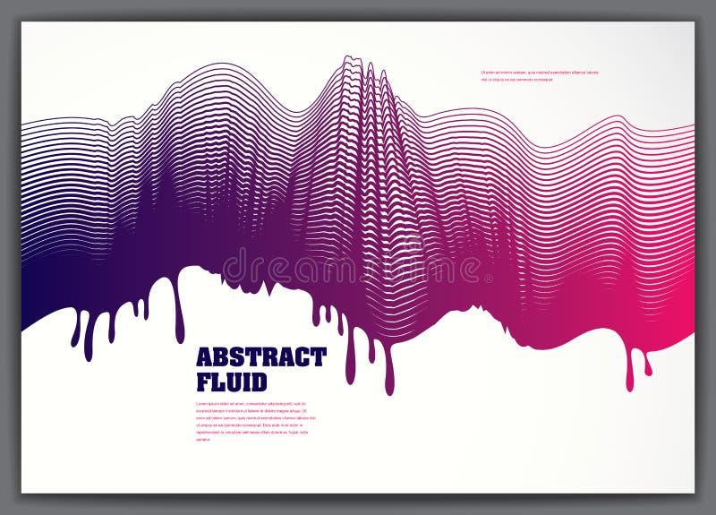 Vector vloeibare stroom golvende abstracte achtergrond 3d kleurrijke art. van de gradi?ntmotie Gevoerde textuur, dynamische opper vector illustratie