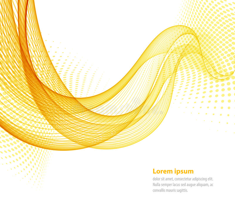 Vector vlotte abstracte golven stock illustratie