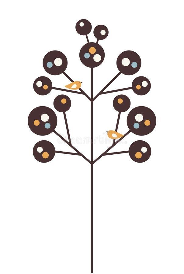 Vector Vogel und Baum stock abbildung
