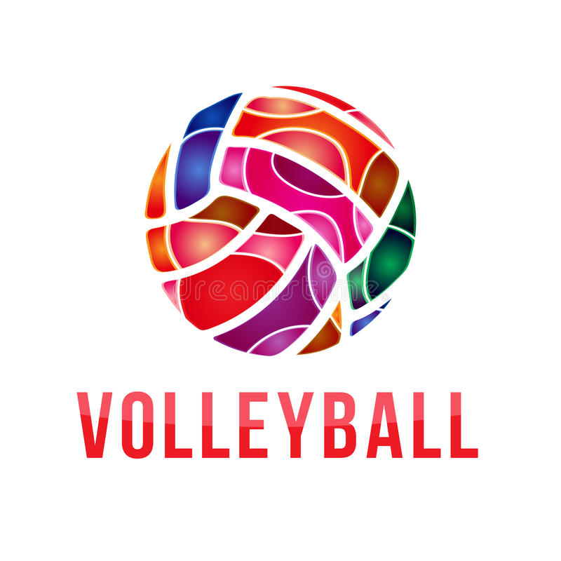 Vector volleyball logo. Vector volleyball championship logo. With ball vector illustration