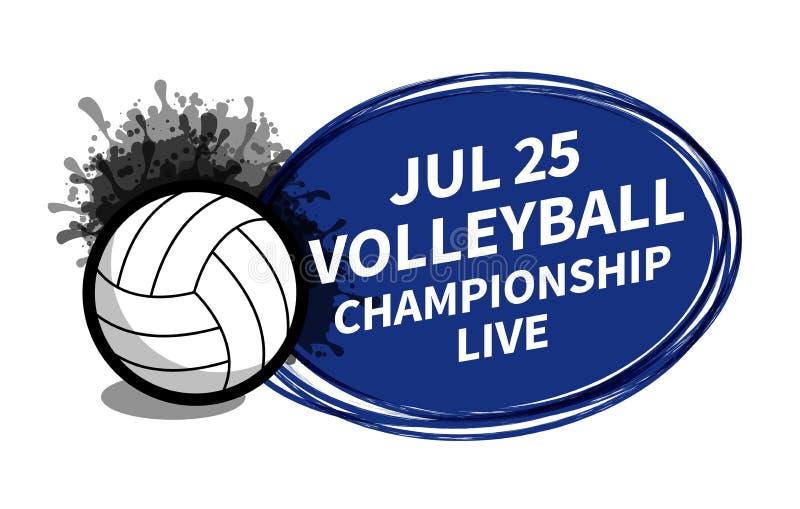 Vector Volleyballsportanzeigetafelscheinwerfer-Hintergrundplatz für Kopientextanzeige Fahne, Flieger, Plakat, Fernsehkonzeptdesig vektor abbildung