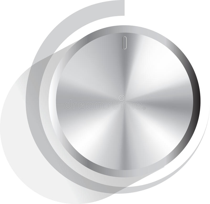 Download Vector volume knob stock vector. Image of aluminum, music - 14243737