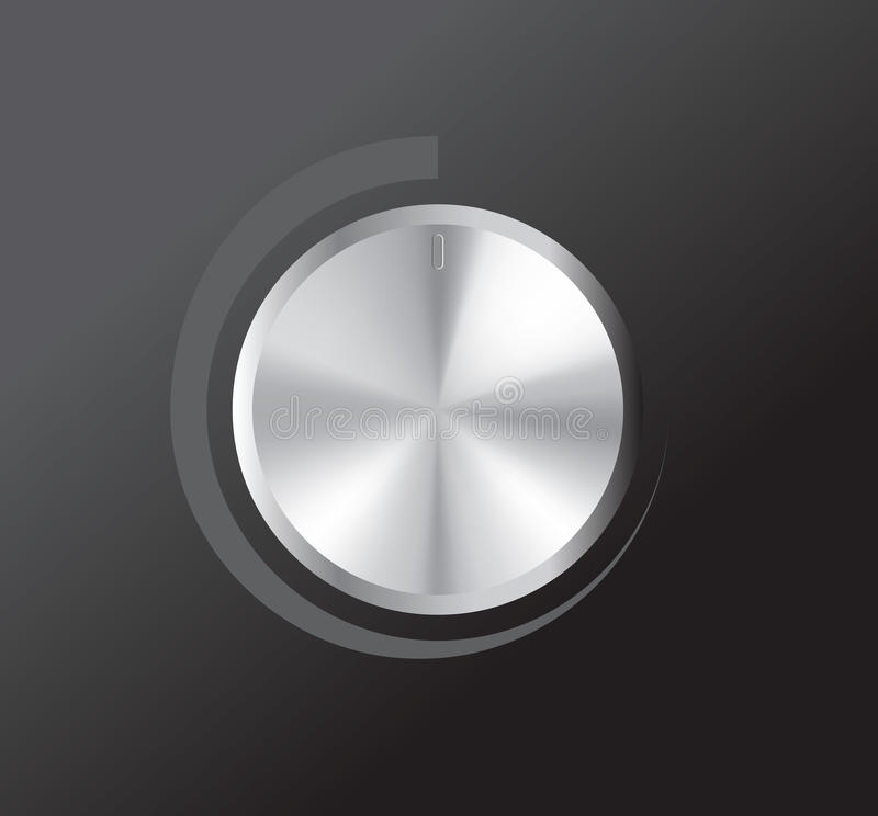 Vector volume knob vector illustration