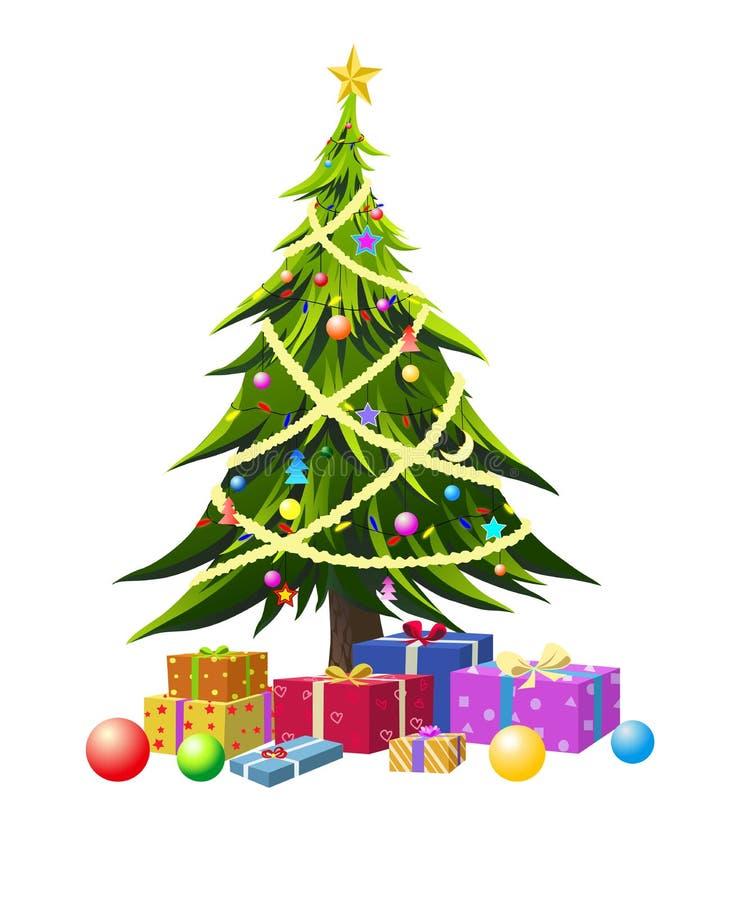 Vector voor Kerstboom royalty-vrije illustratie