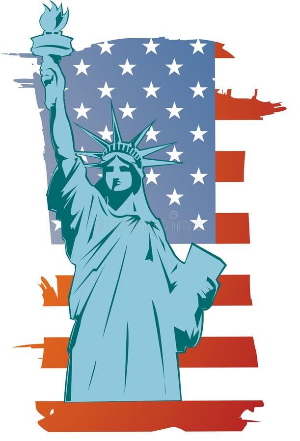 Vector vrijheidsstandbeeld royalty-vrije illustratie
